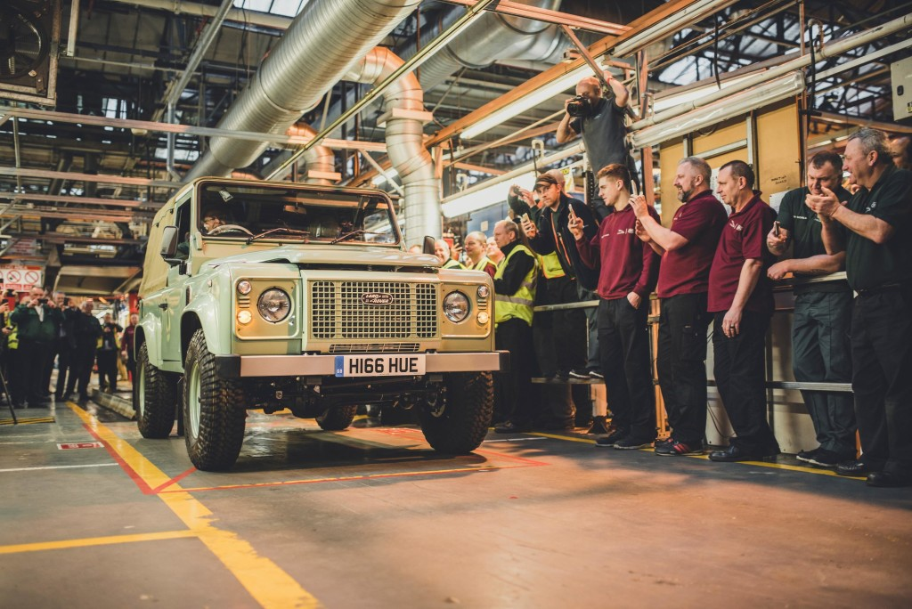 Last Land Rover Defender in all its glory