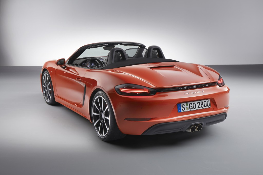 new porsche 718 boxster unveiled speed carz. Black Bedroom Furniture Sets. Home Design Ideas