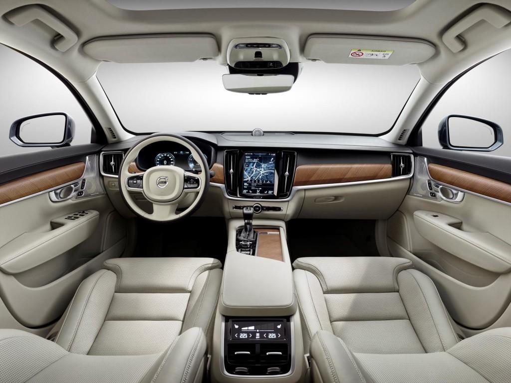 New Volvo S90 Sedan Interior Cabin
