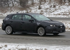 2017 Subaru Impreza Hatchback Spied for Obtaining the First Images
